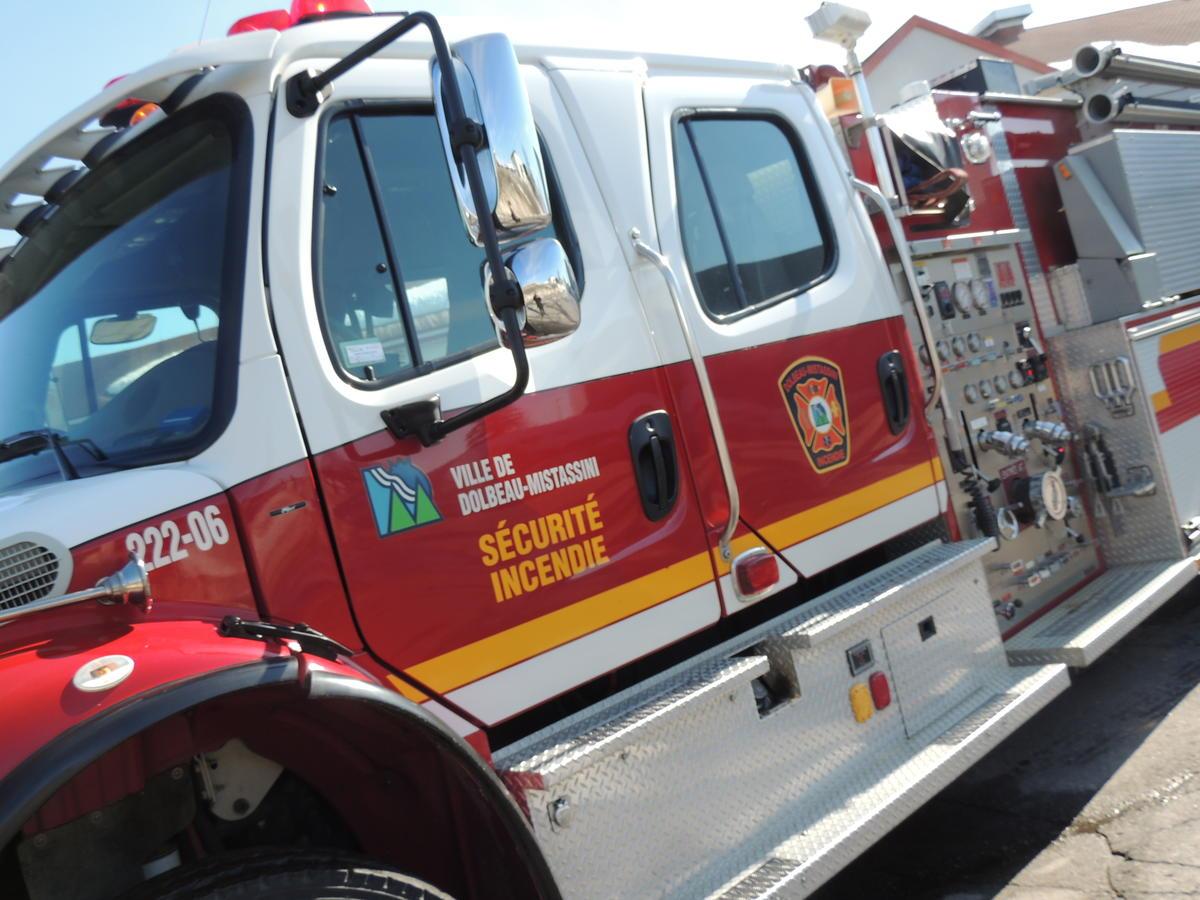 Dolbeau-Mistassini: incendie dans le rang Sainte-Marie