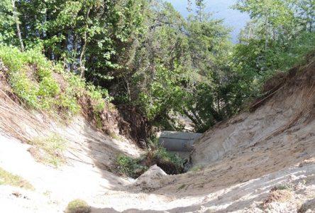 Important glissement de terrain à l'arrière du CSSS Maria-Chapdelaine