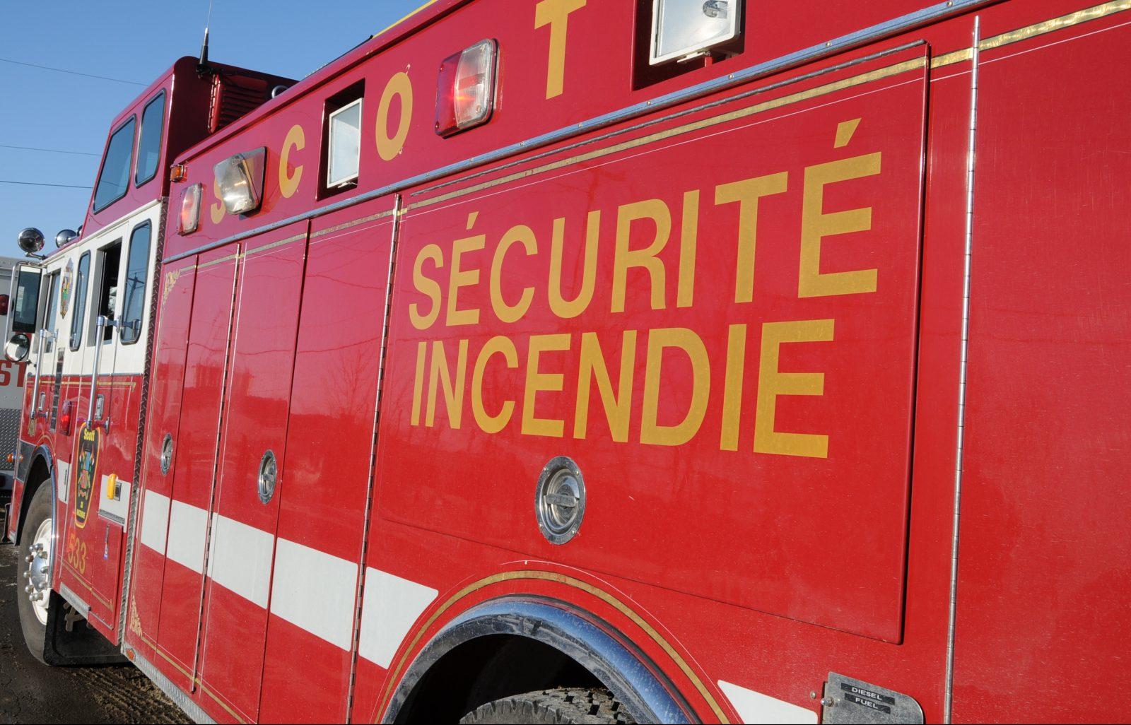 Incendie à Saint-Eugène-d'Argentenay