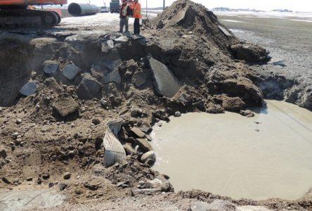 La 169 bloquée par suite d'effondrement de la chaussée