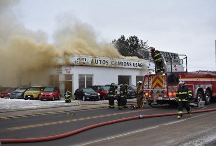 Incendie au Garage Clément Marcil
