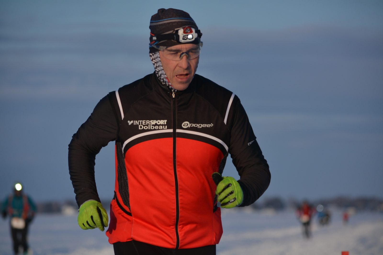 Stéphane Leroyer a couru 20 km avec un genou blessé