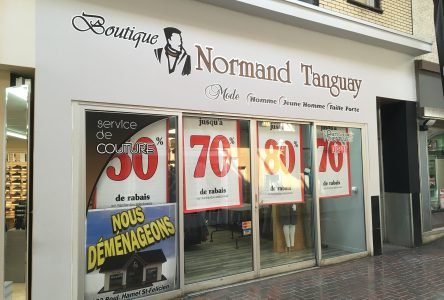 Boutique Normand Tanguay ferme son commerce de Dolbeau-Mistassini