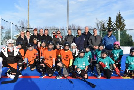 La surface de dek hockey officiellement inaugurée