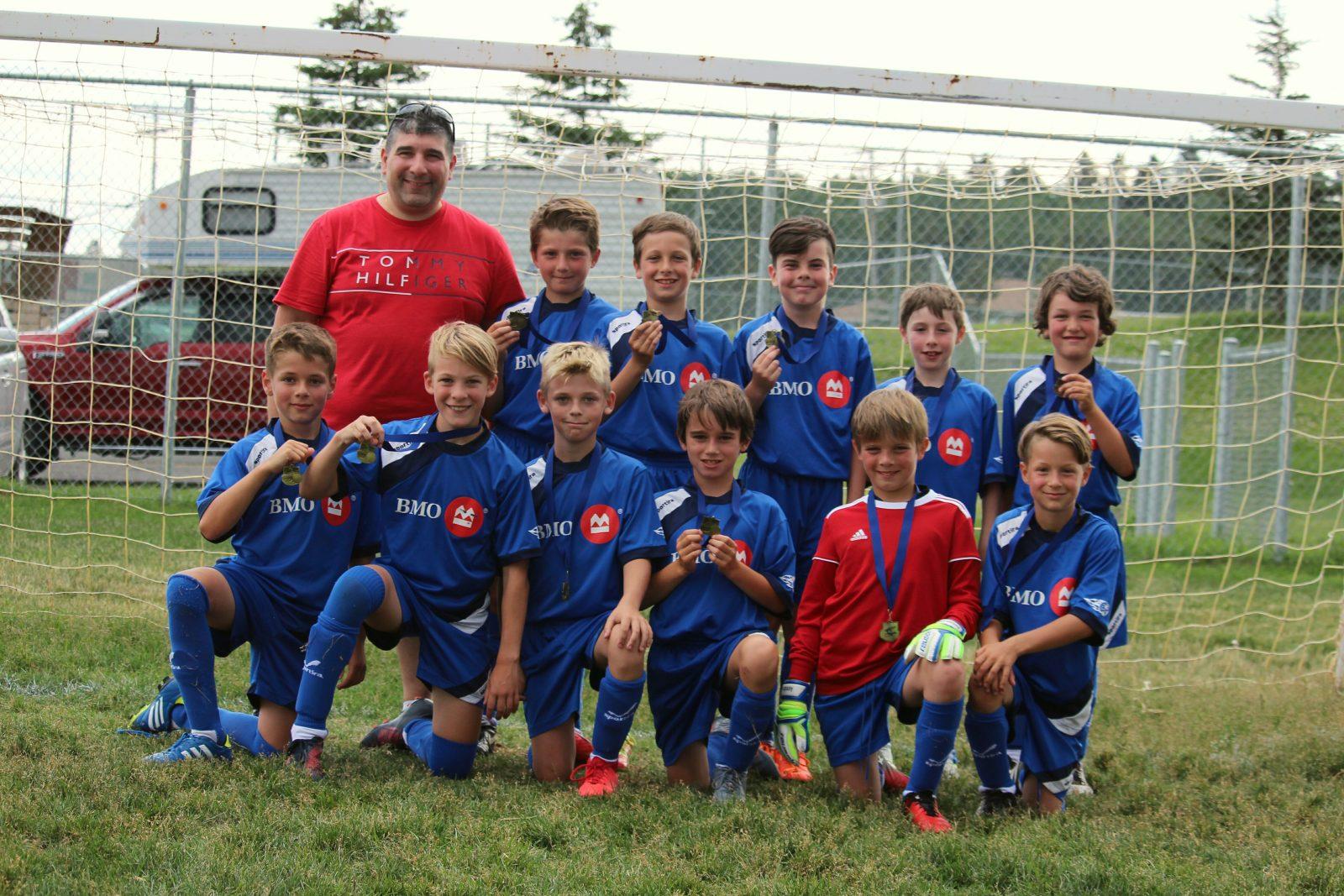 Trois médailles d'or à Roberval pour le soccer mineur local