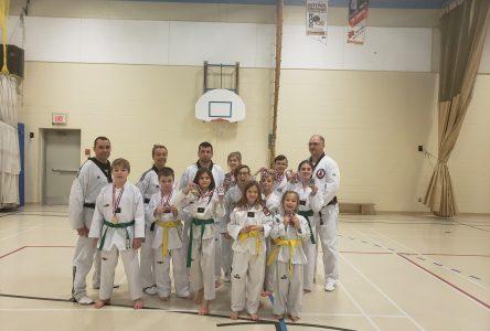 Le club de taekwondo de Normandin récolte douze médailles