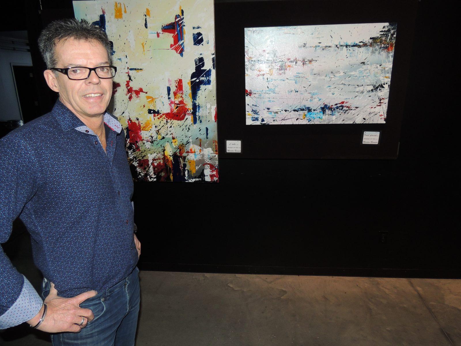 Martin Bernier nous fait découvrir ses talents de peintre