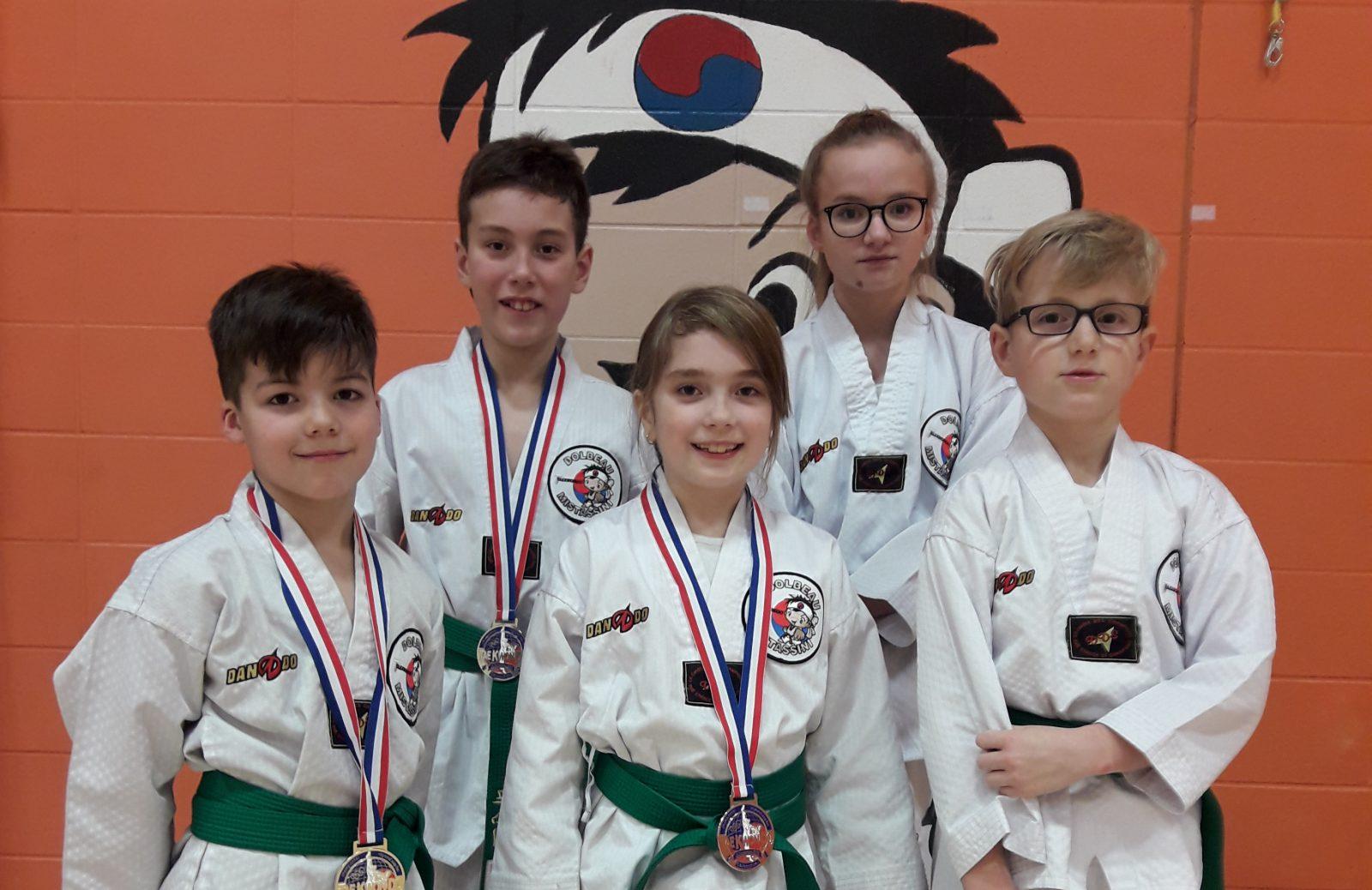 Plusieurs médailles en taekwondo pour le club dolmissois