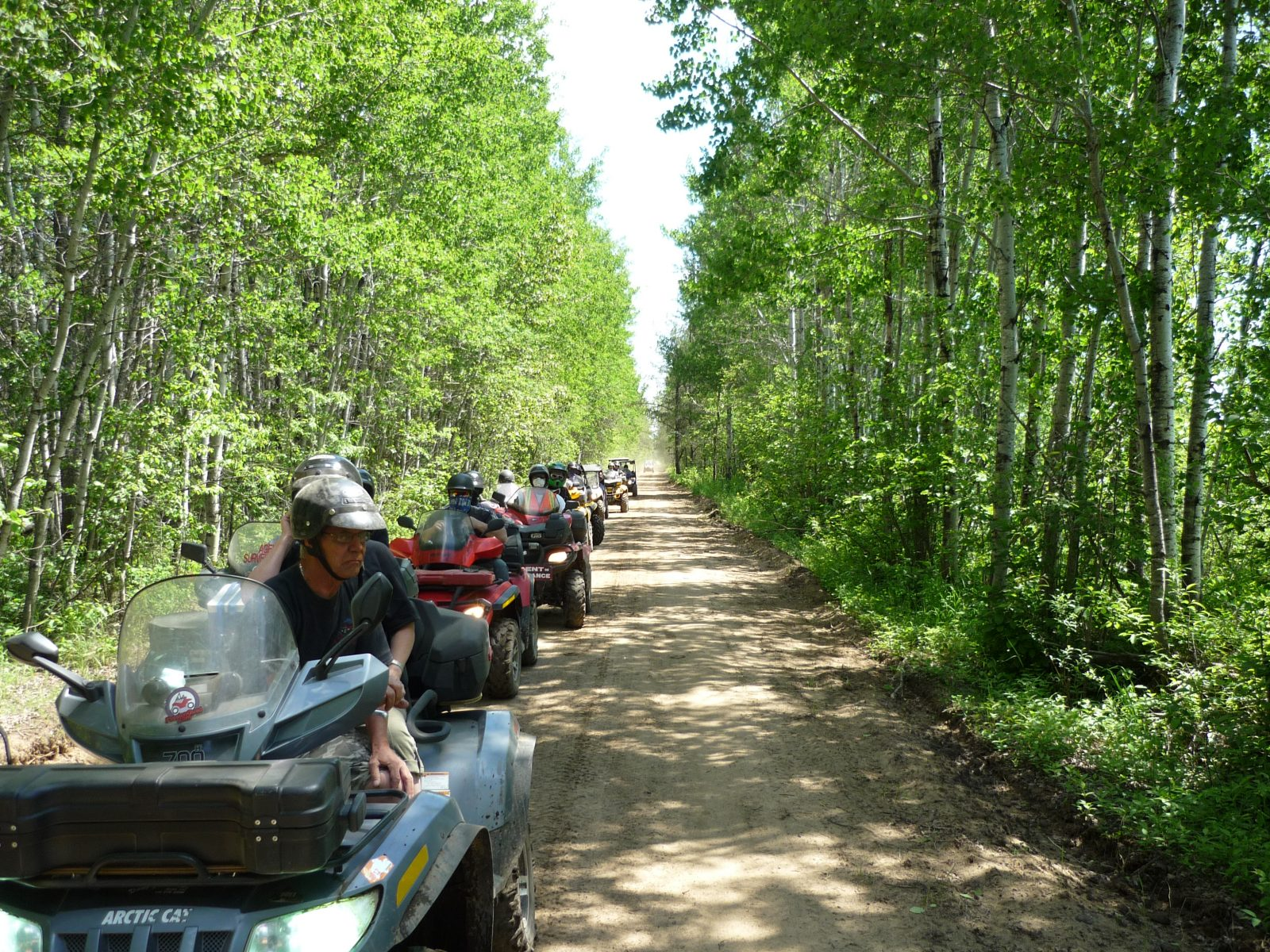 Club Quad Maria-Chapdelaine : un sentier entre le lac à Jim et Chibougamau