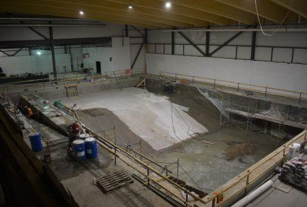 Complexe Aquagym : visite d'un chantier impressionnant