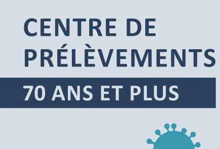 Quatre nouveaux centres de prélèvements pour les 70 ans et plus dans la région