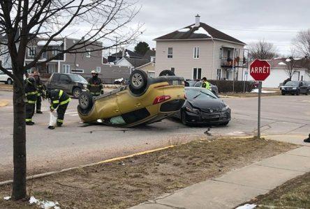 Accident avec capotage sur Wallberg