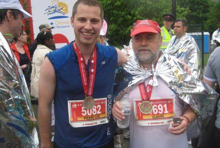 Claude Laprise a couru son premier marathon à l'âge de 53 ans
