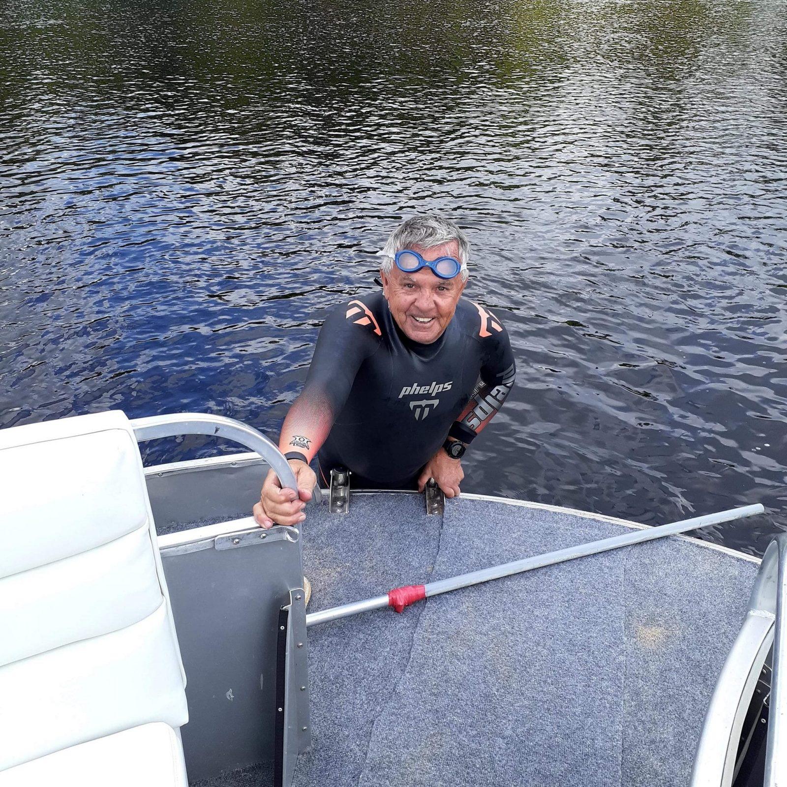 Traversée du lac Saint-Jean à la nage: Jacques a réalisé son rêve d'enfant